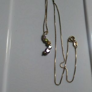 Italy 925~FAS gemstones necklace
